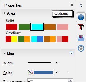 Figure 8: Mockup for area section in the sidebar.