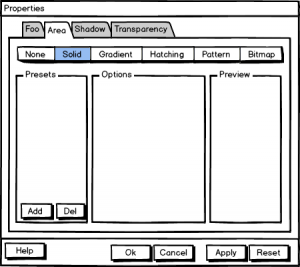 Figure 3: Alternative UI concept with focus on the preview.