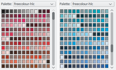 The CIE-HLC palette 'freecolour-hlc' from freieFarbe e.V.