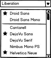 Improvements to Font Listing - LibreOffice Design Team