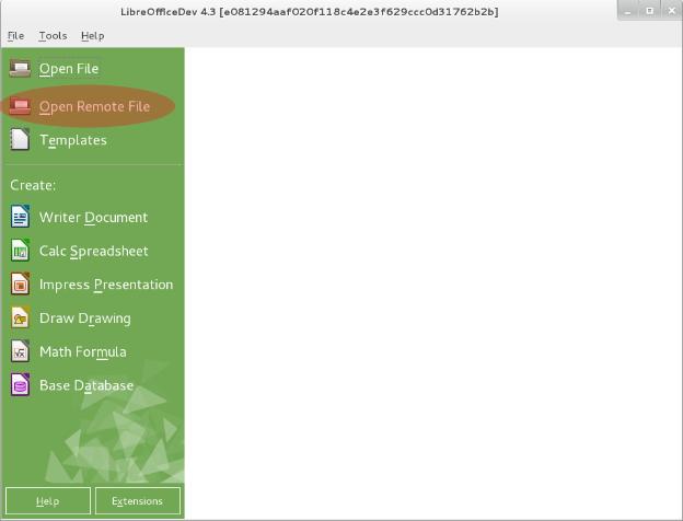 20150312_CMIS-StartCenter - LibreOffice Design Team