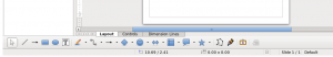 Current toolbar in Libreoffice Draw.