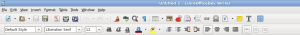 Libreoffice Writer's toolbars.
