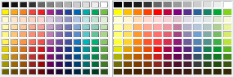 Old standard palette vs. new in 6.1