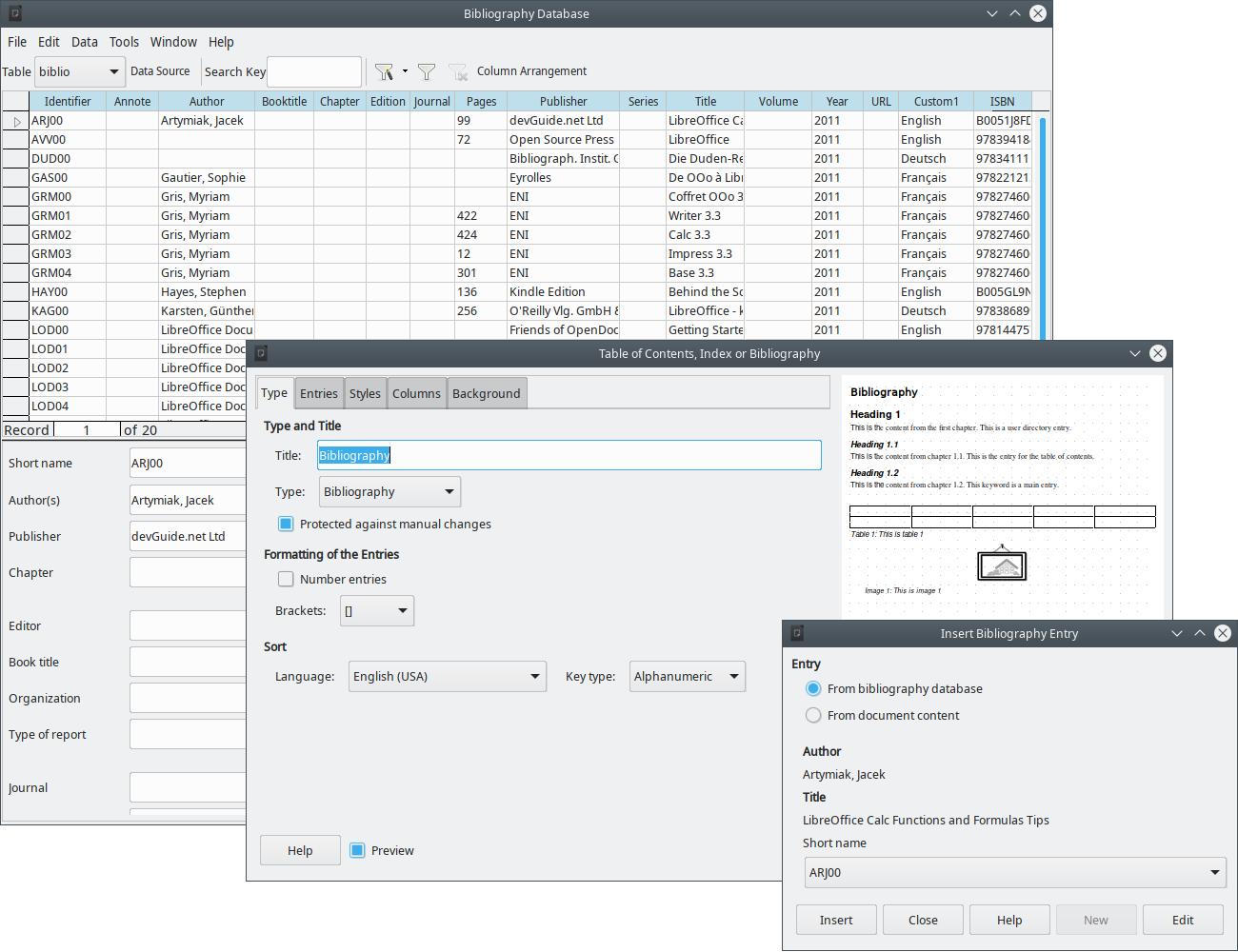 Libreoffice Base Sample Application