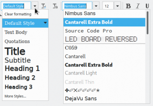 Both dropdown using the design preview