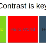 Bad contrast examples